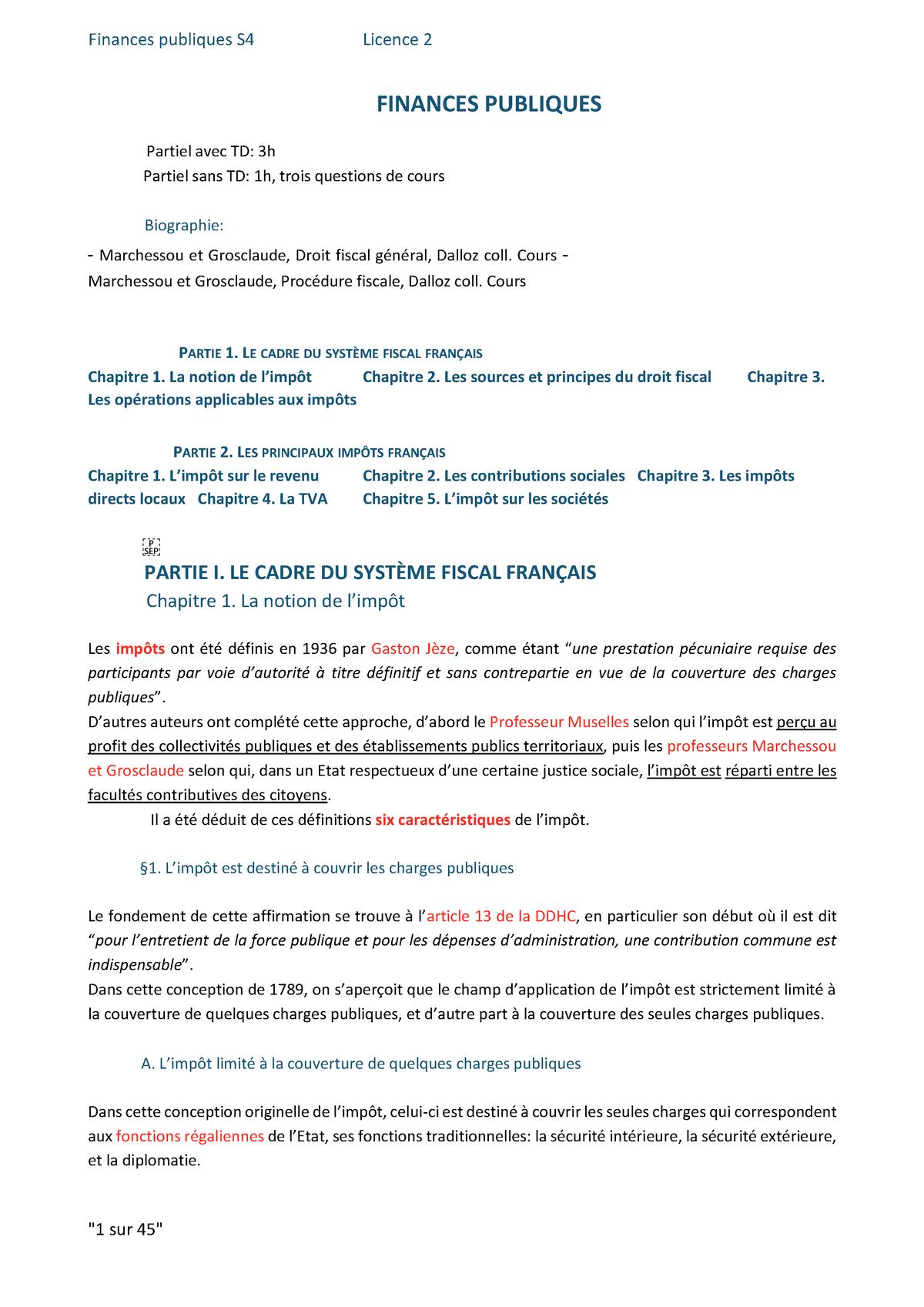 Couvrir Une Cour Intérieure l2s04 - finances publiques s4 - - umontpellier - studocu