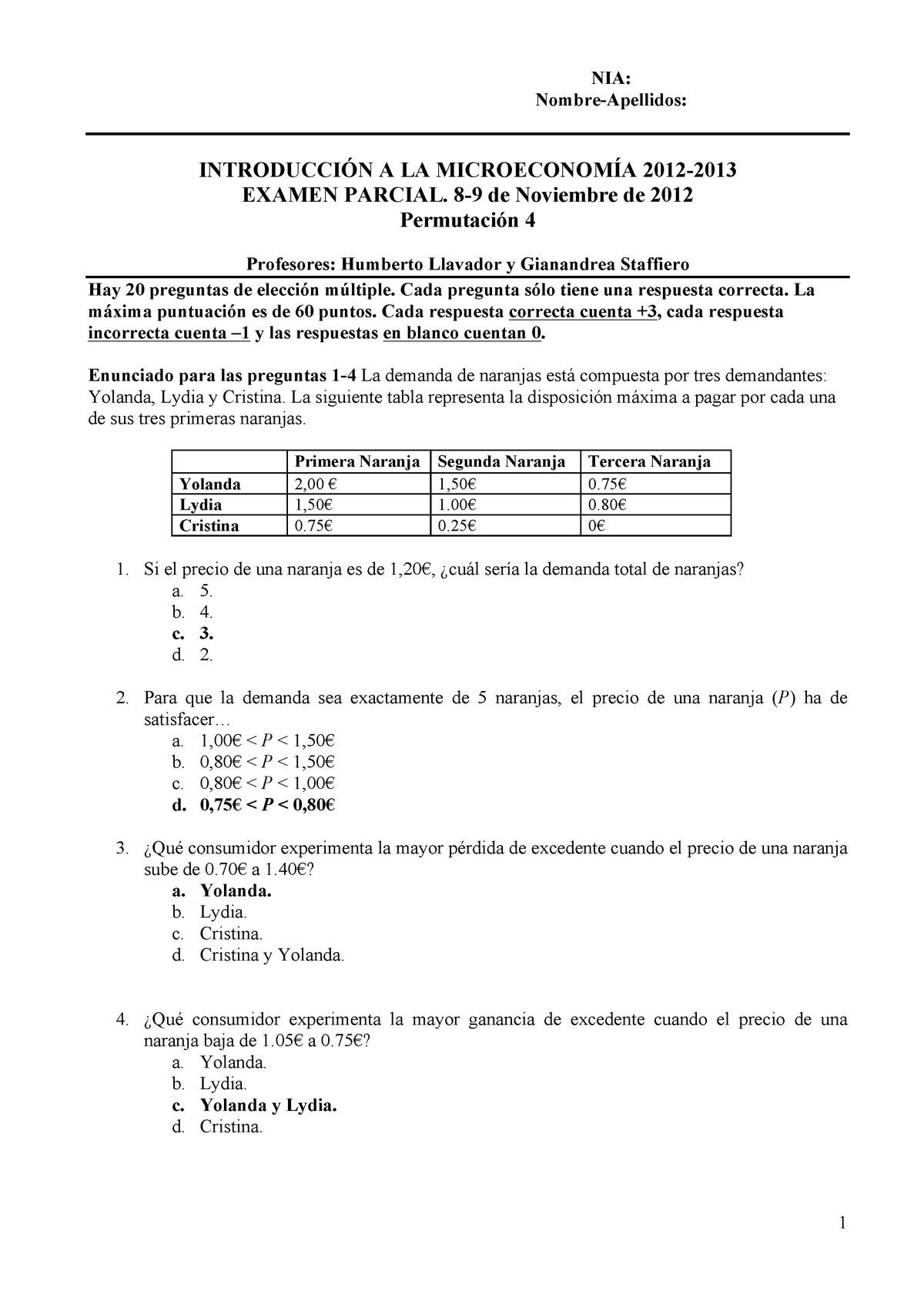 Examen Noviembre 2012 Preguntas Y Respuestas 4 Studocu