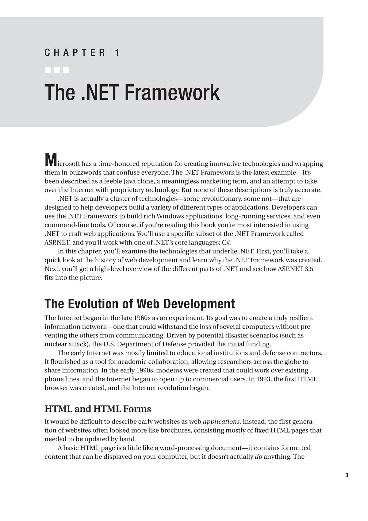 Chapter 01 - The  NET Framework - MUM-SCIIT-006: Asp Net