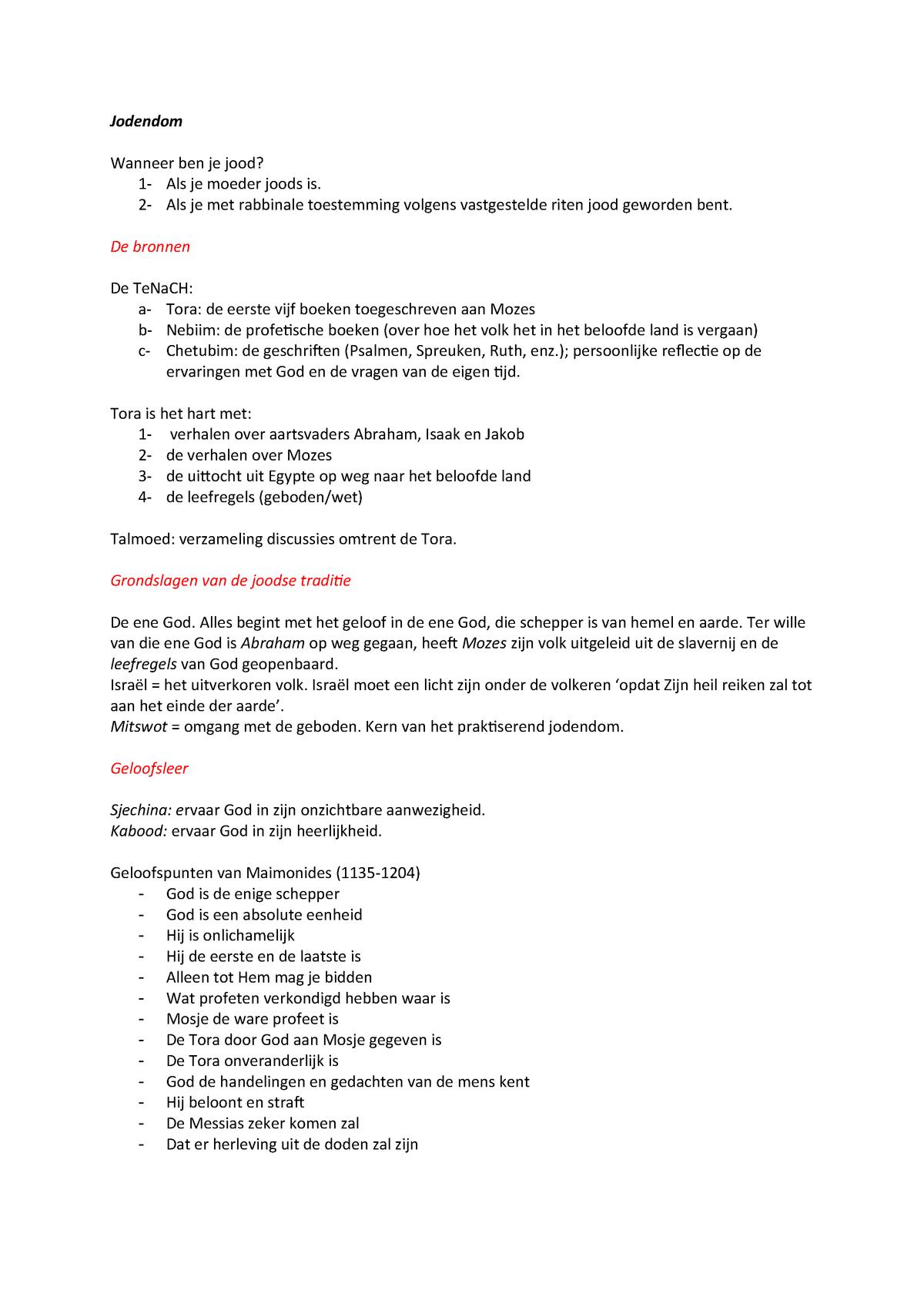 Samenvatting - compleet - Schema overzicht van kenmerken van