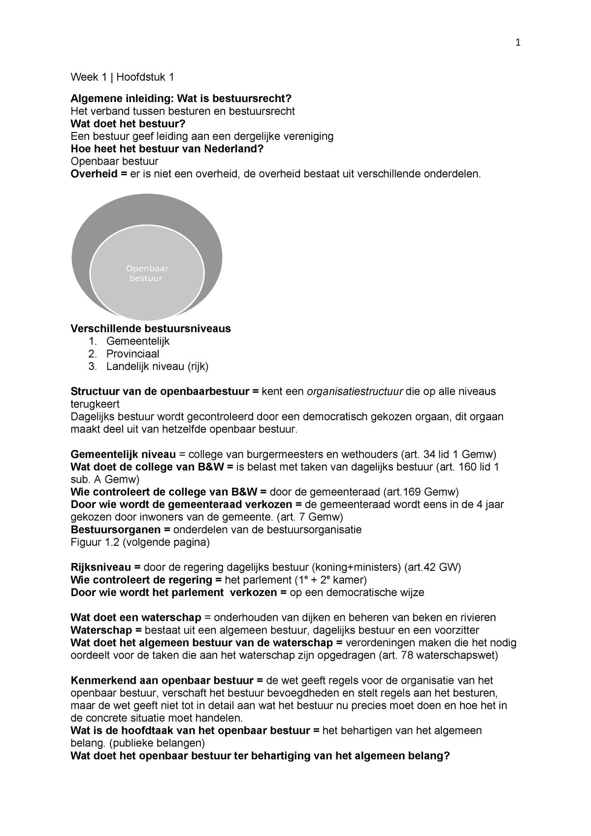 Samenvatting Juridische Hogeschool P3 Bestuursrecht Studocu