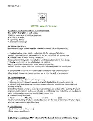 2018 SRT722 Week 3 Seminar Questions & Answers - MMP722
