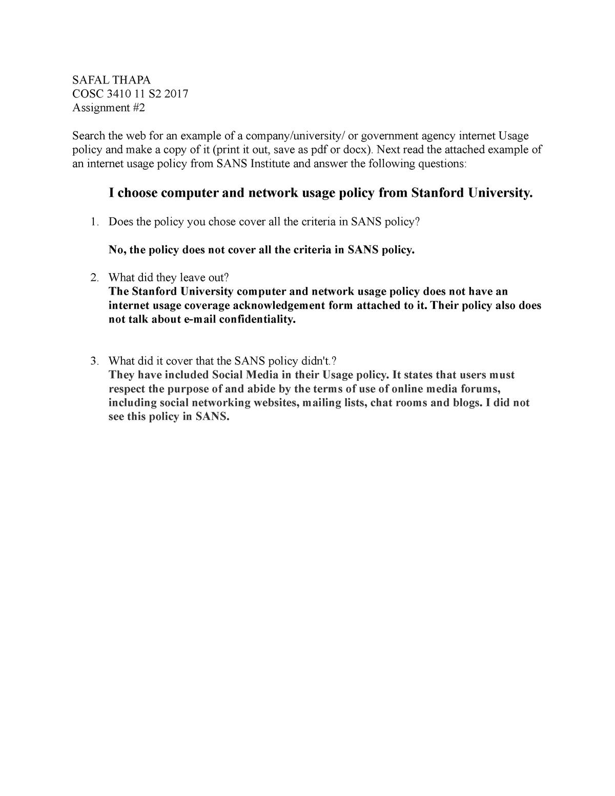 Assignment #2 - COSC 3410: Computer Security - StuDocu