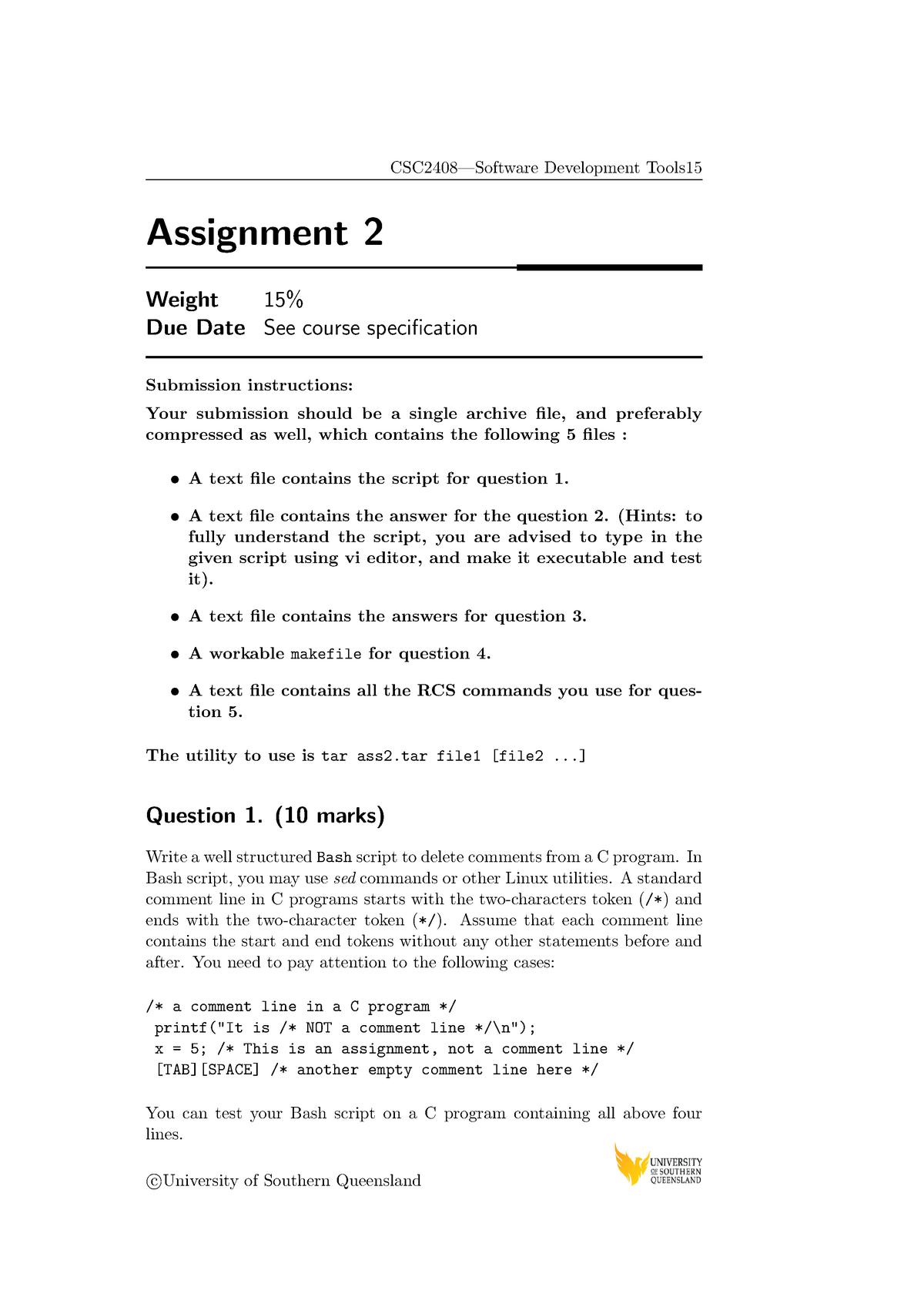 CSC2408 Assignment 2 2014 - CSC2408: Software Development