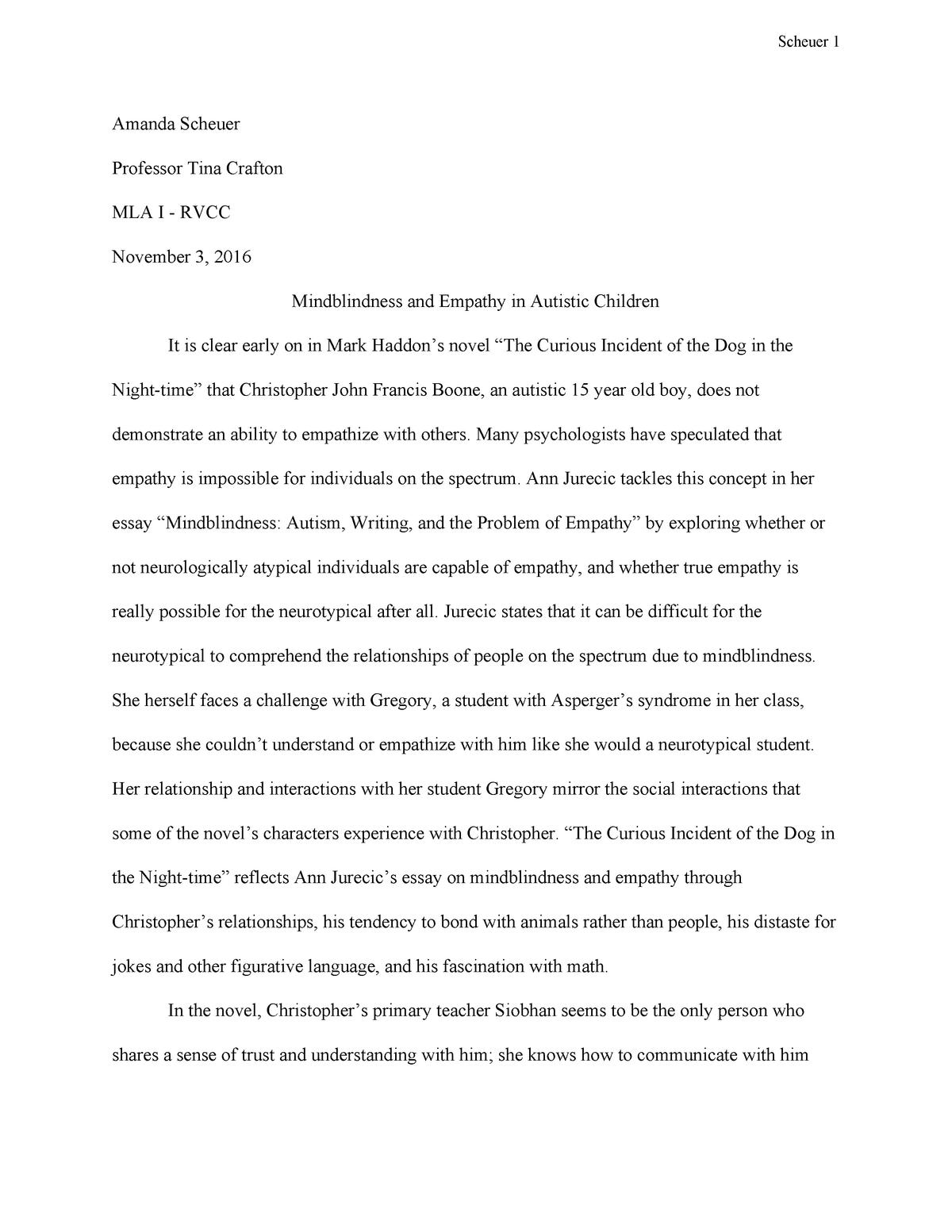 autism essay pdf