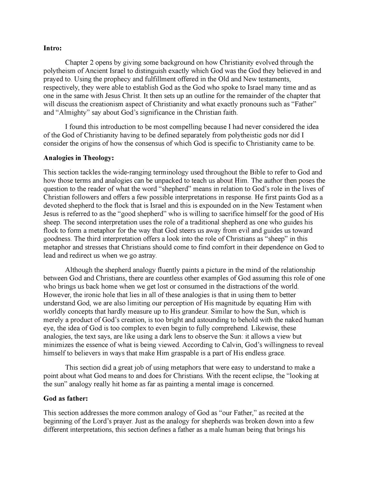 Summary Theology: the basics 29 Mar 2018 - StuDocu