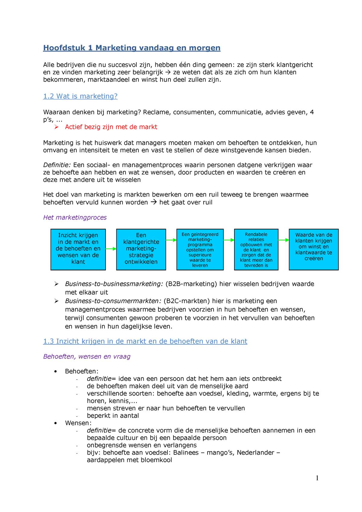 3559b3375e4 Samenvatting Marketing: compleet en uitgebreid - StudeerSnel.nl