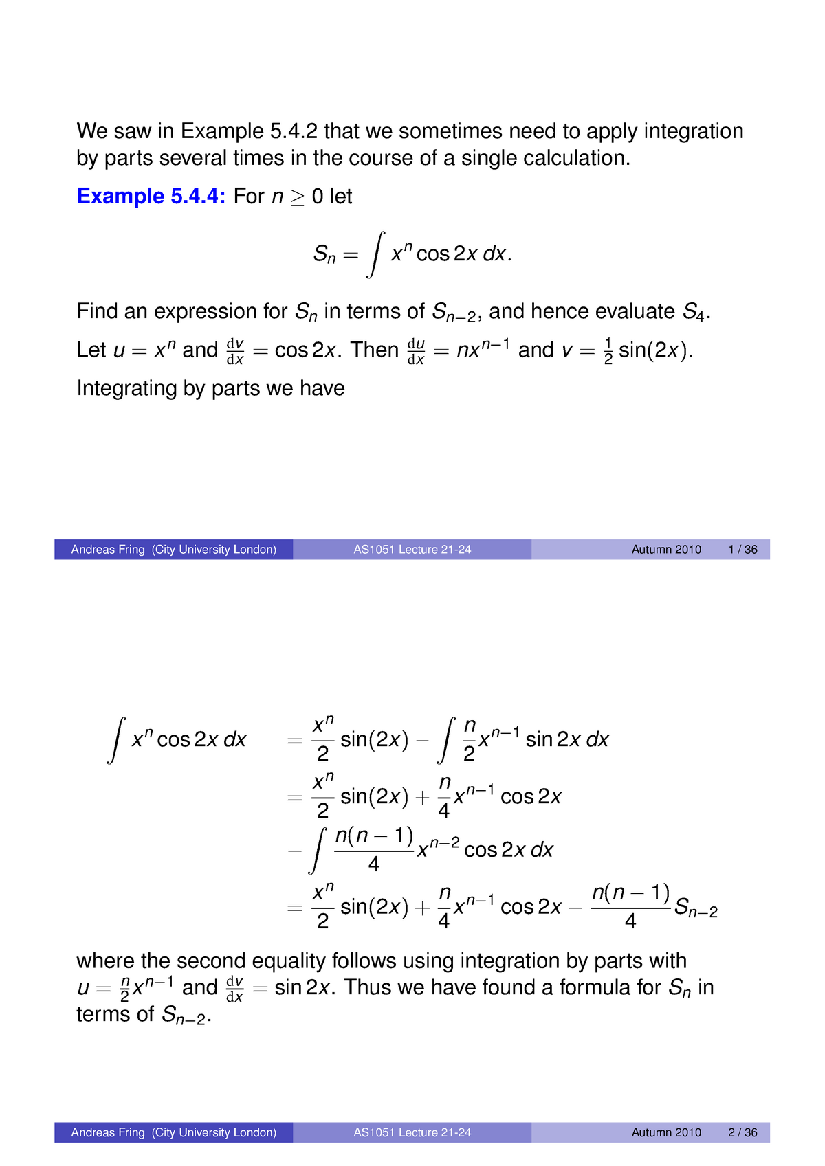 2010-2011 Lecture 21-24 - Mathematics for Acturial Science