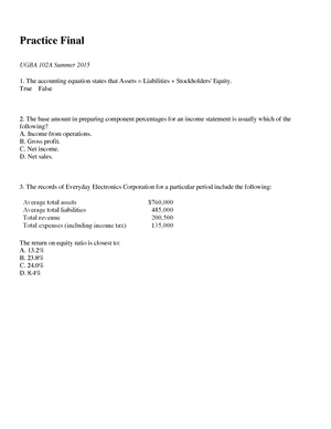 Sample/practice exam 30 May 2015, questions and answers