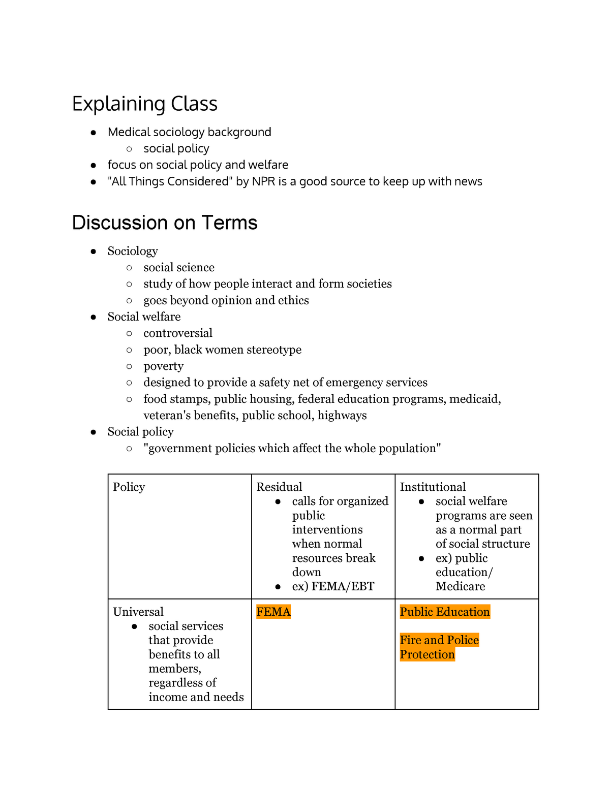 Class 1 Notes Potter Special Topics In Sociology Uofl Studocu