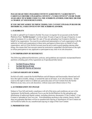 Scribd Upload Agreement Studocu