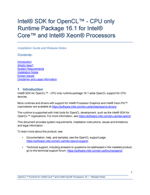 Opencl runtime-16 1-release notes - SD: Sustainable design