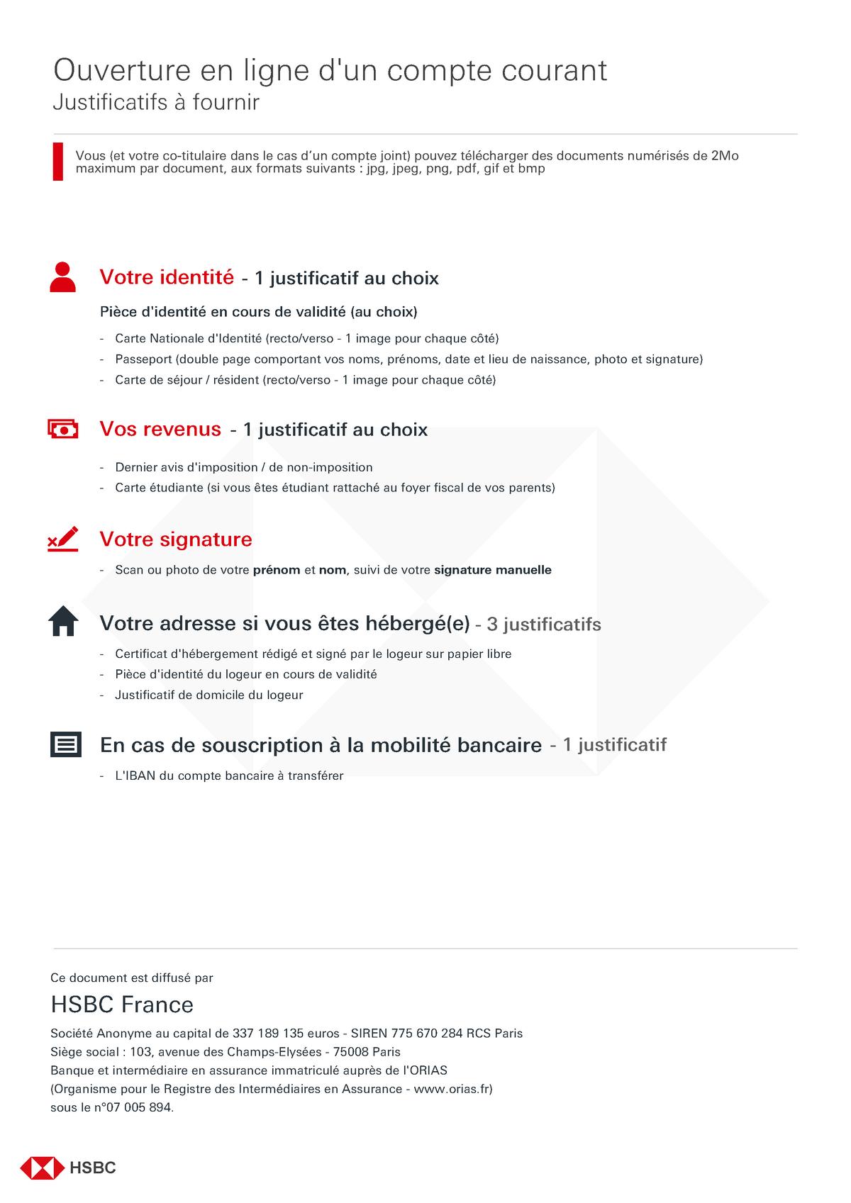 HSBC-EER-justificatifs - UPJV - StuDocu