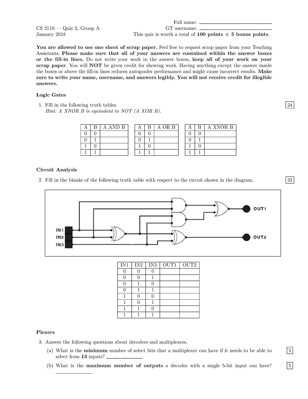 Exam 2018 - CS 2110: Computer Organiz&Program - StuDocu