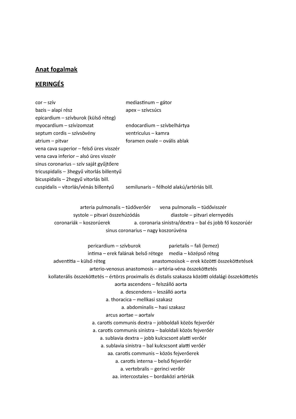 Felső üres visszér latinul