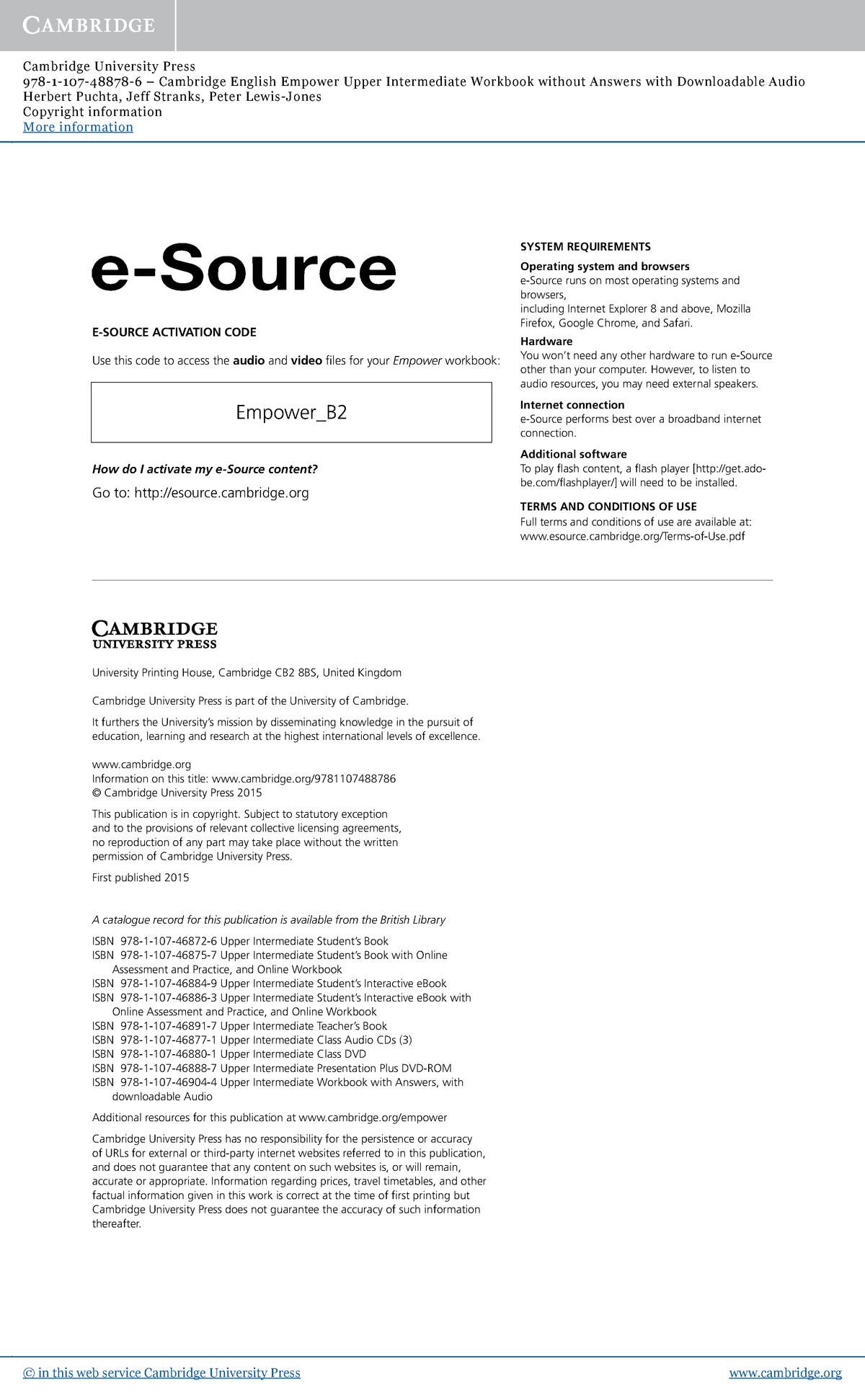 9781107488786 copyright info Cambridge - Cálculo 2 - StuDocu
