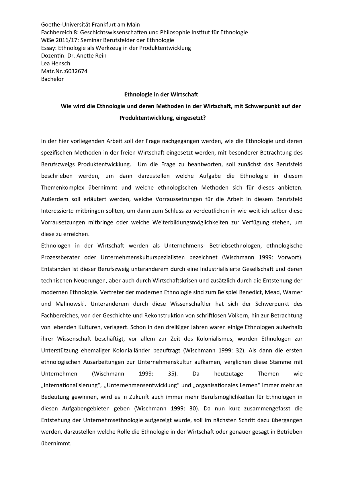 Essay for fit