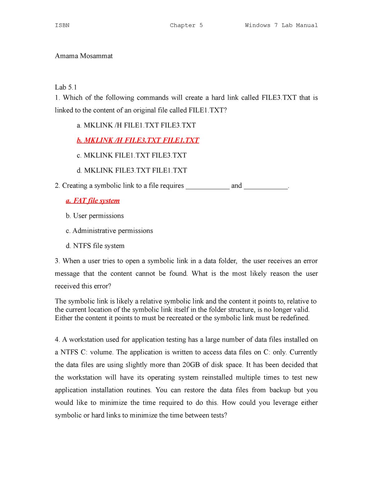 Chapter 5 Assignment - Quiz - CIS 445 - BMCC - StuDocu