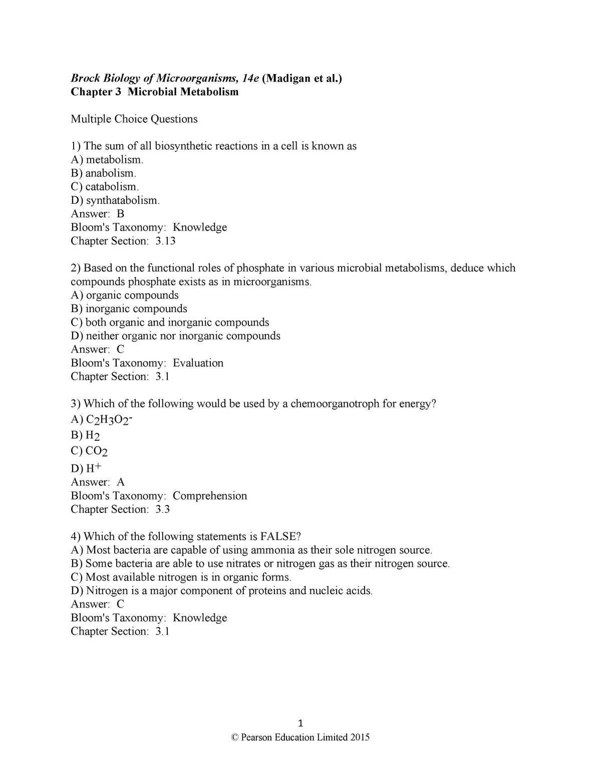 Madigan-14e-ch03 - Solution manual Brock Biology of Microorganisms - StuDocu