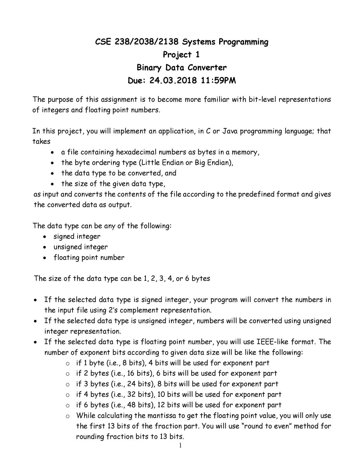 Binary data converter - Discrete Mathematics CSE2023 - StuDocu