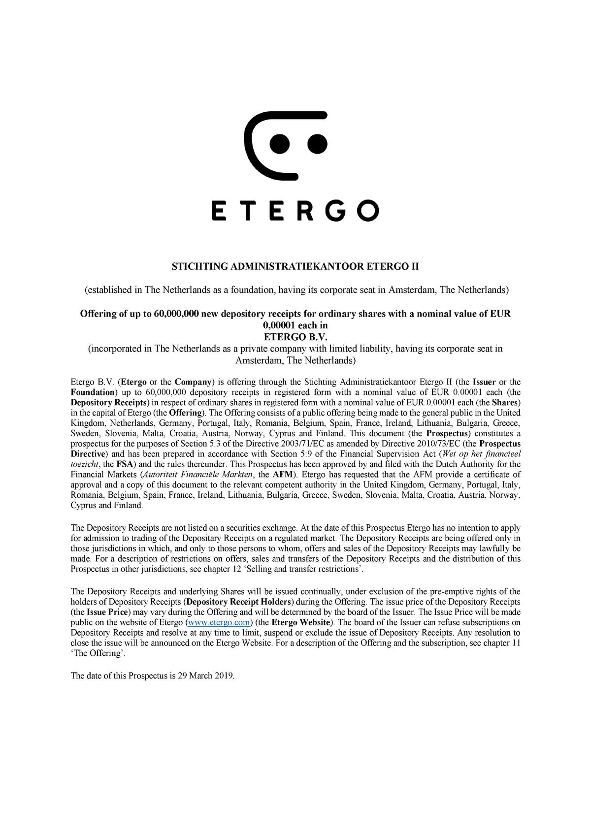 Etergo Prospectus - 29 March 2019 - BBSSBSK - LSBU - StuDocu