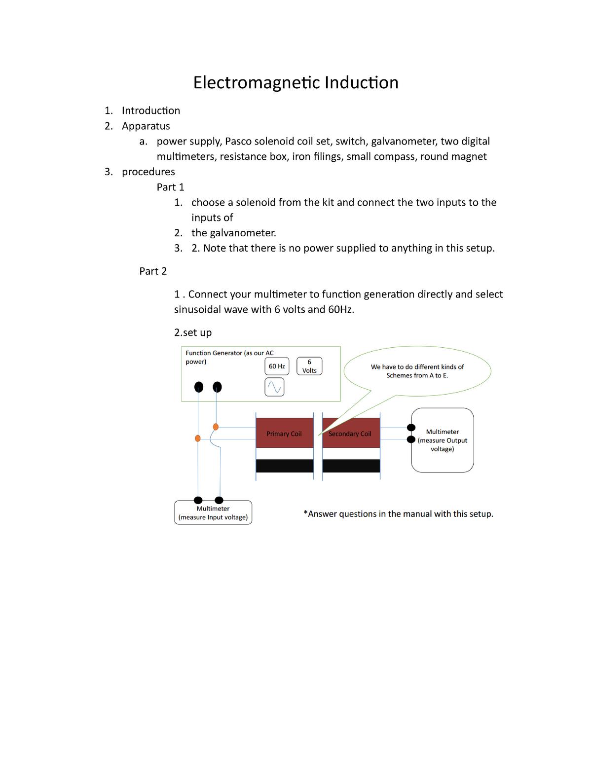 Phy Electromagnetic Induction - PH 161: General Physics I - StuDocu