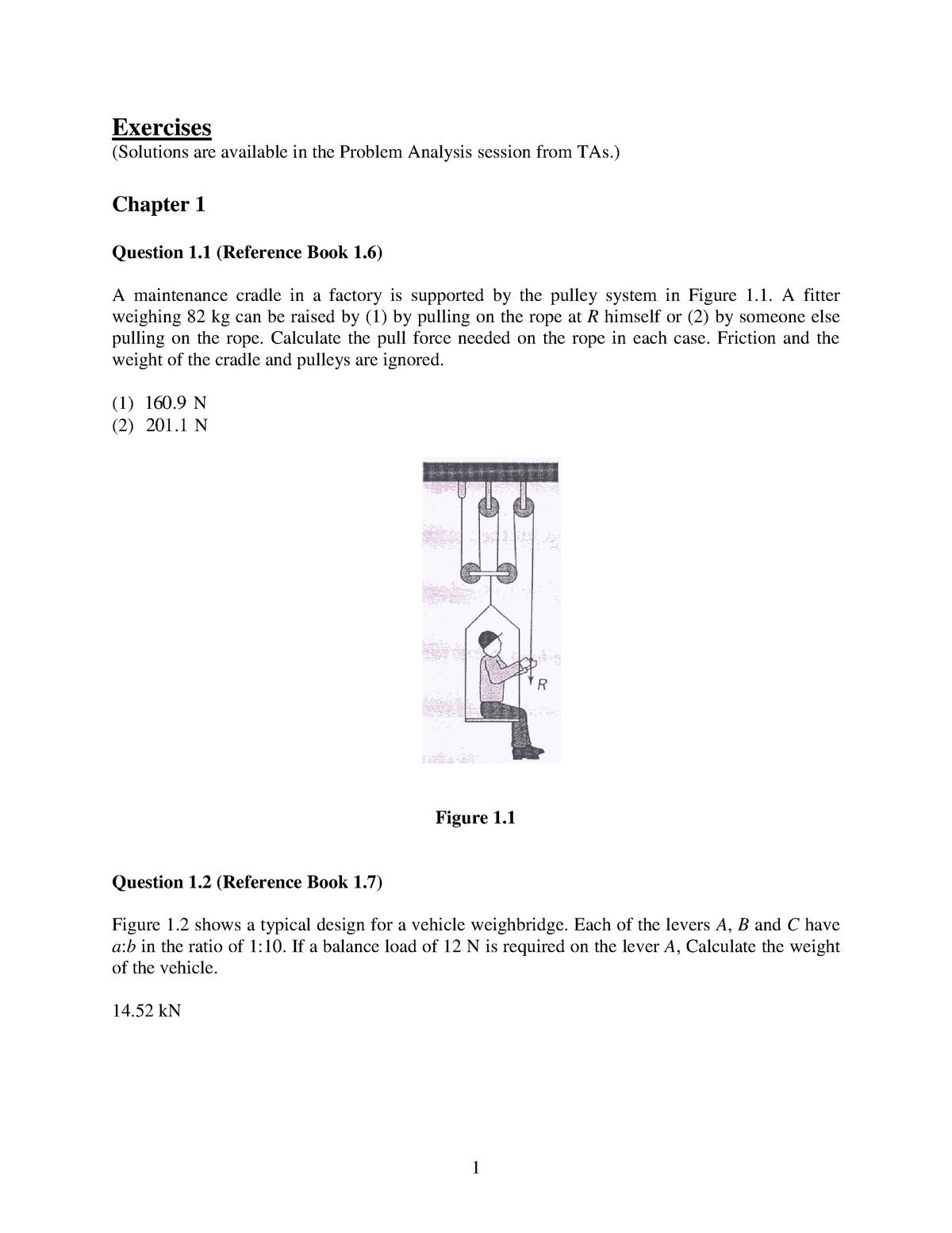 Exercises - Mechanics of Solids I - Maae 2202 - Carleton