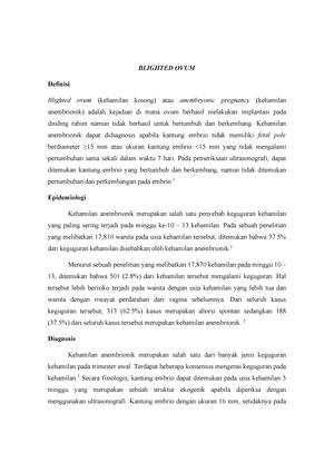 Blighted Ovum Medicine Kedokteran Unpad Studocu