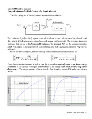 ME360Design Problem Chapter 4 - ME 3600 Control Systems