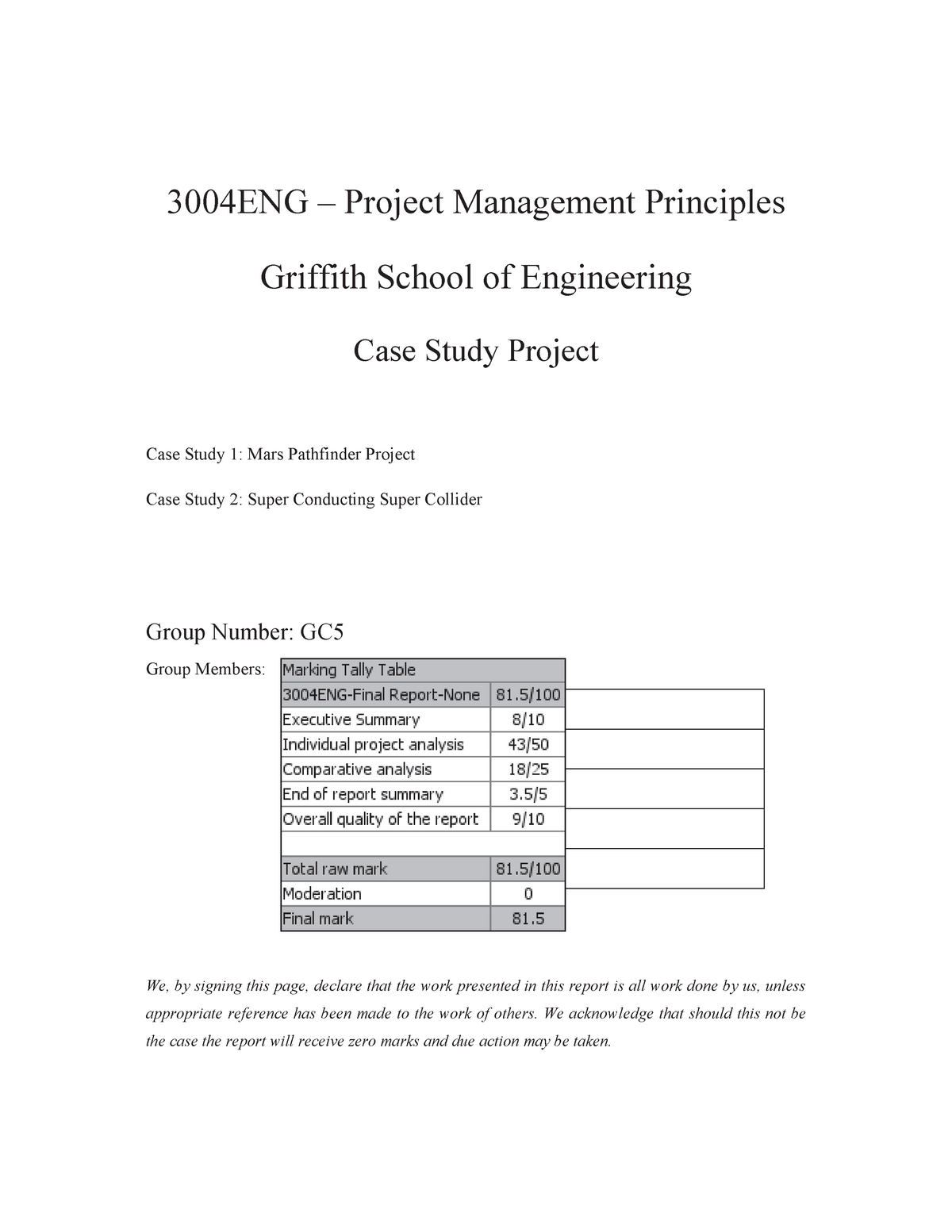 case study examples with solutions