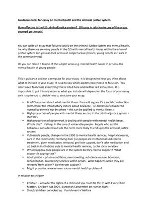 mental health essay   guidance notes   gz social care and the  mental health essay   guidance notes   gz social care and the  criminal justice system   studocu