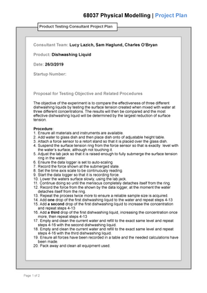 PE Prelab Project Template - 068037 : Physical Modelling