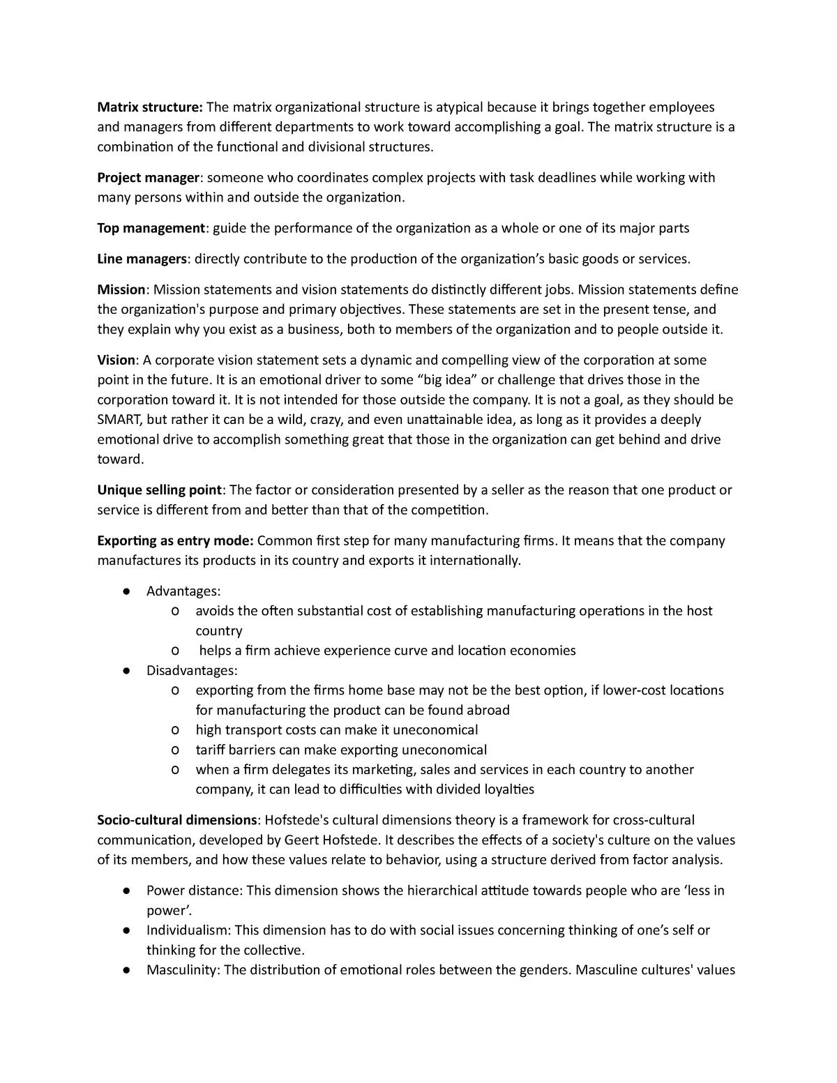 Definitions - Blok / Project / Kwa: Marketing - StudeerSnel nl