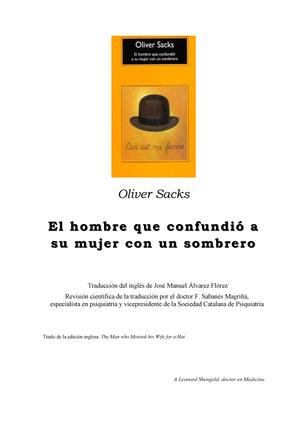 Sacks Oliver-El Hombre Que Confundio a Su Mujer Con Un Sombrero - Internado  Rotatorio de Pregrado - StuDocu 2adc4d6f775
