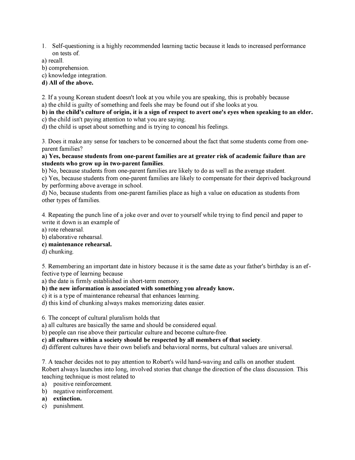 Exam 2018 - 3300: Educational Psychology - StuDocu