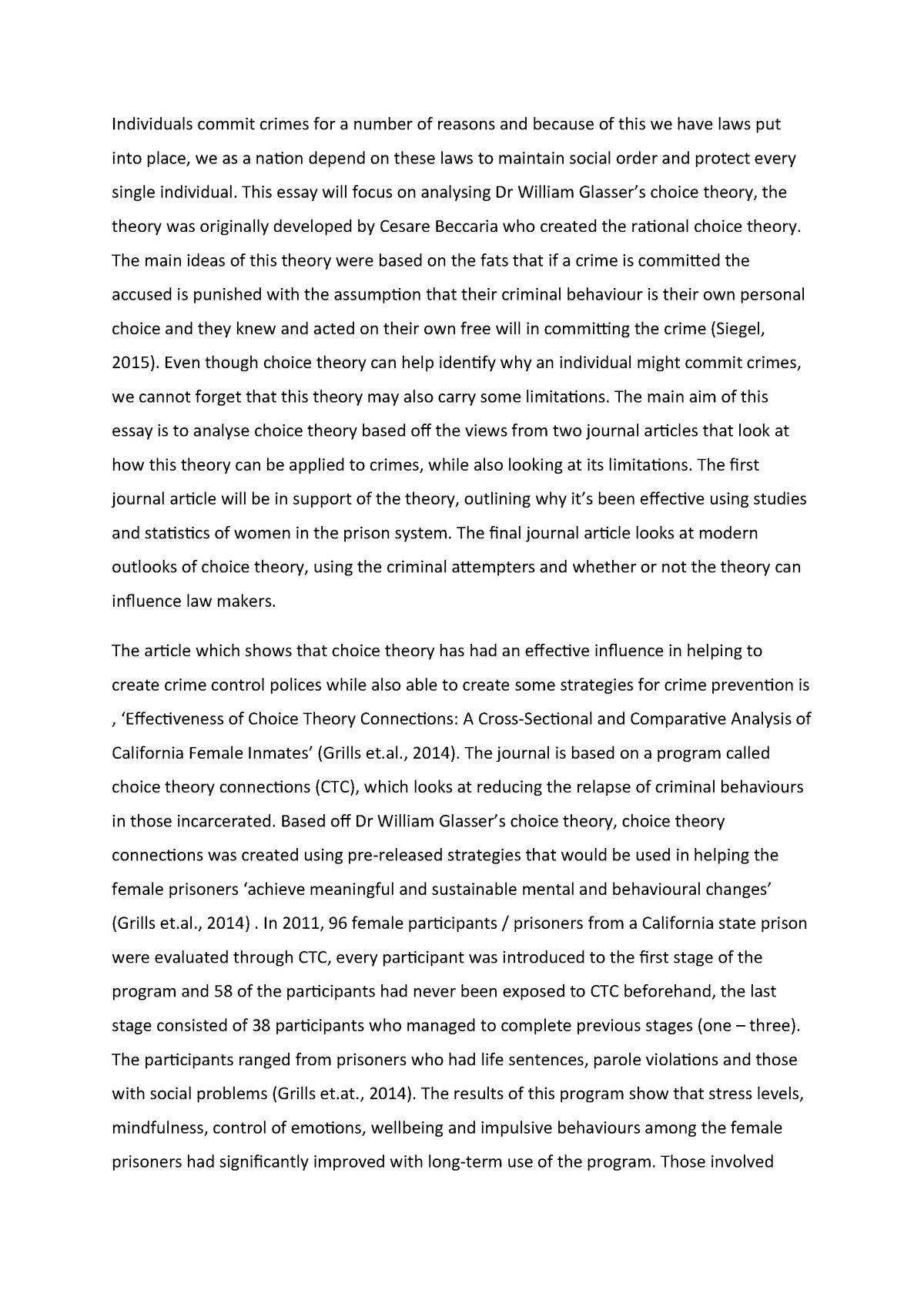 Prison effectiveness essay