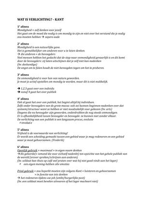 wat is verlichting p0l04b wijsgerige pedagogiek deel 1 studocu