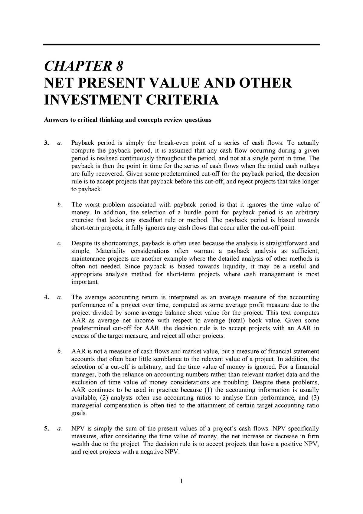 Tutorial Wk 6 - FINS1613: Business Finance - StuDocu