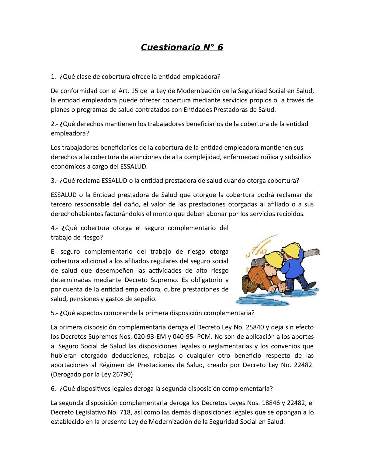 seguro complementario de trabajo de riesgo pension y salud
