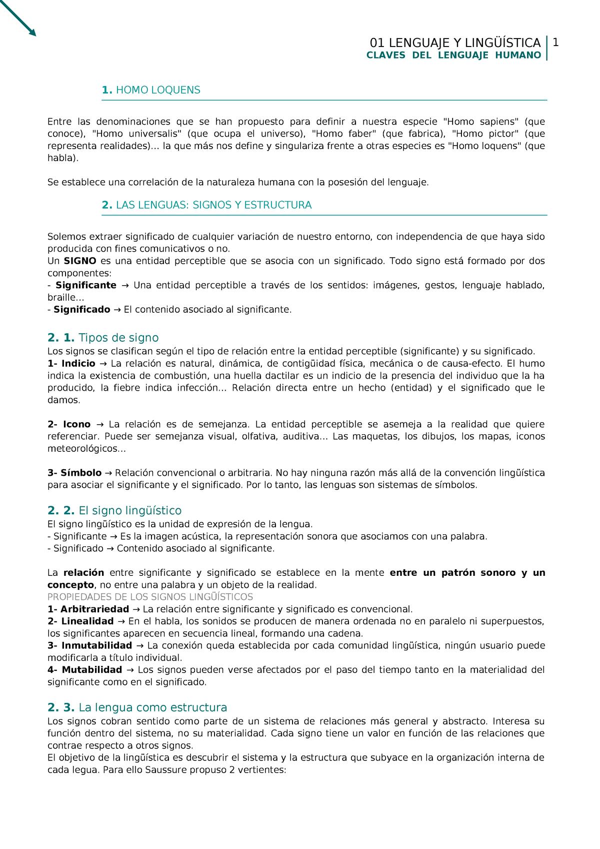 01 Lenguaje Y Lingüística 64901019 Uned Studocu
