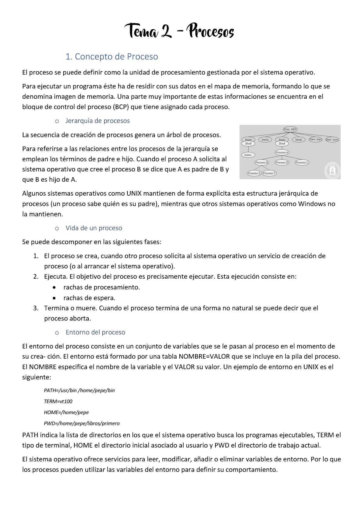 Tema 2 Apuntes Del Libro Sistemas Operativos 595000026