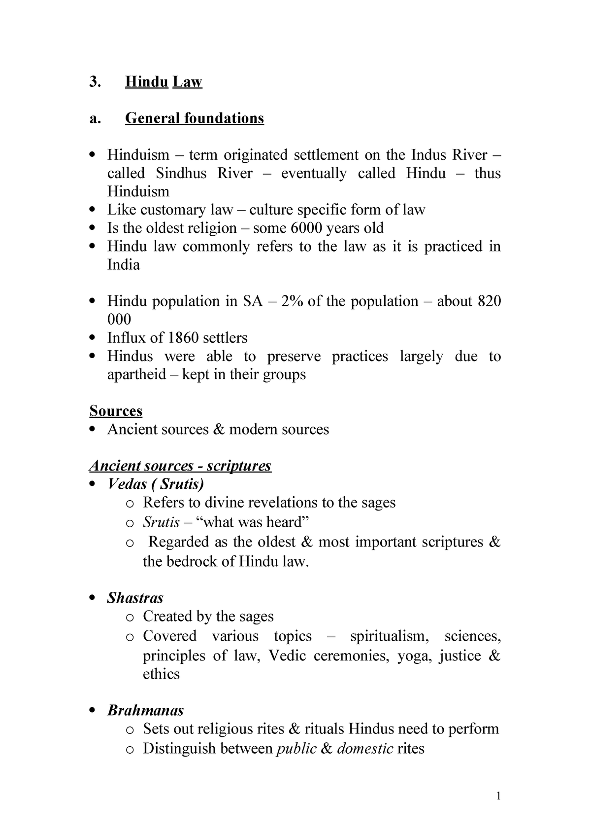 Hindu law document - Legal Diversity LAWS3LDH1 - SUN - StuDocu