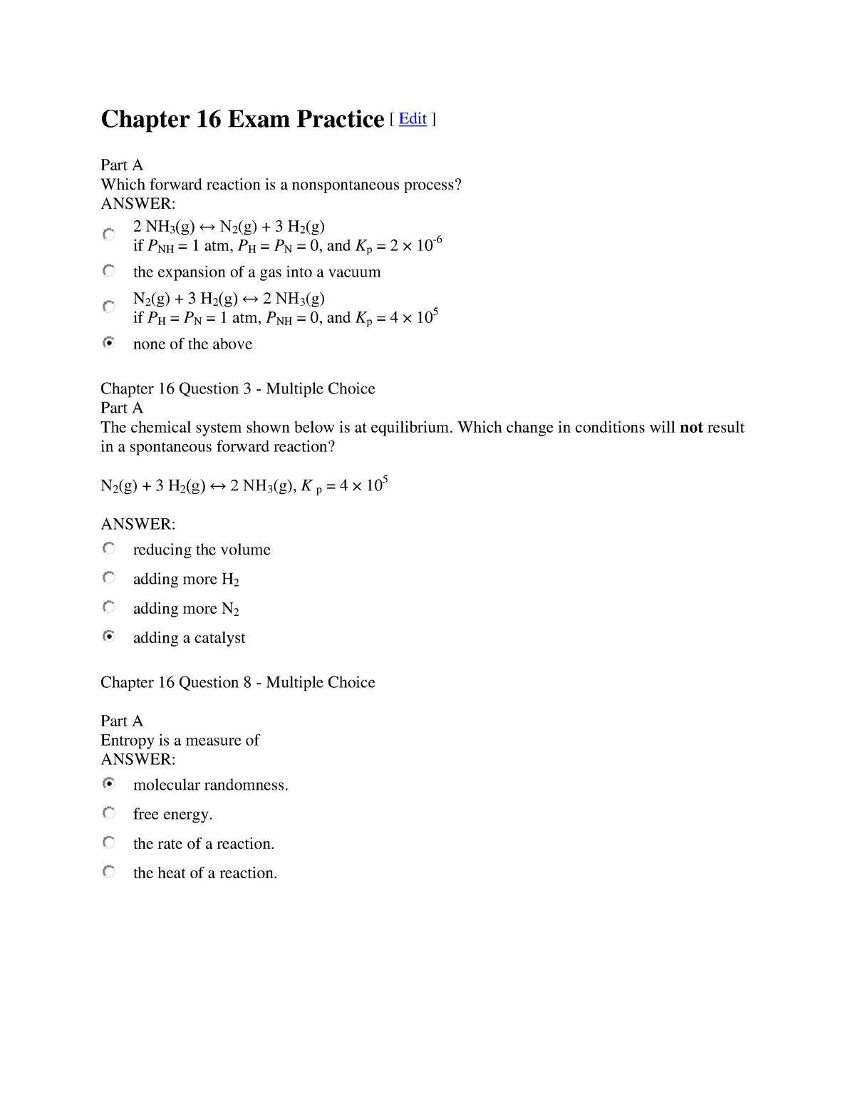 Exam 2018 - CHEM 001B: General Chemistry - StuDocu