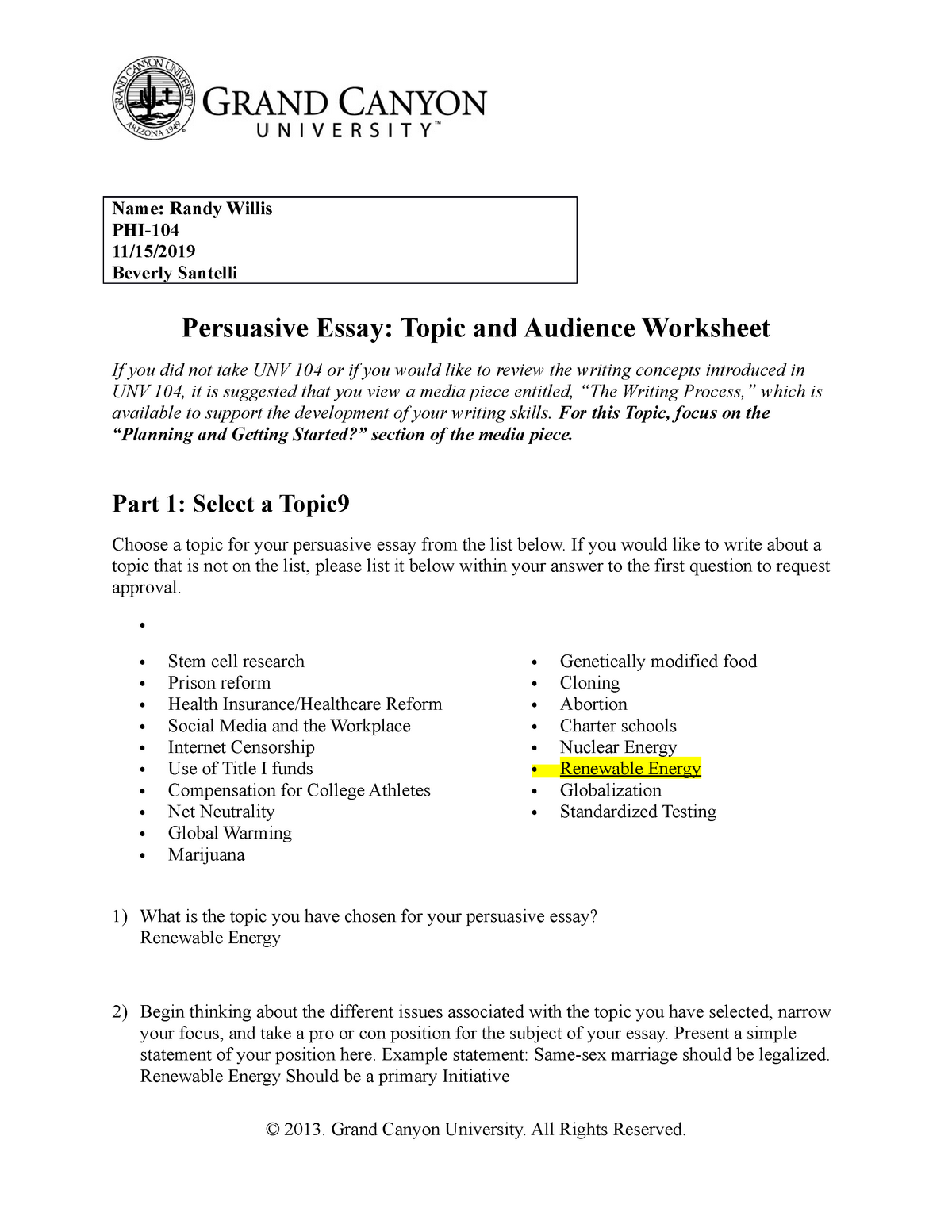 Persuasive Writing Prompts and Worksheets