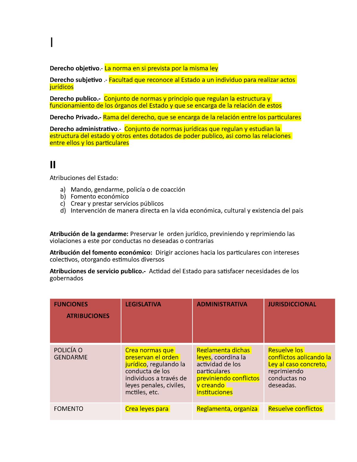 Derecho Administrativo 1 Chihuahua Studocu