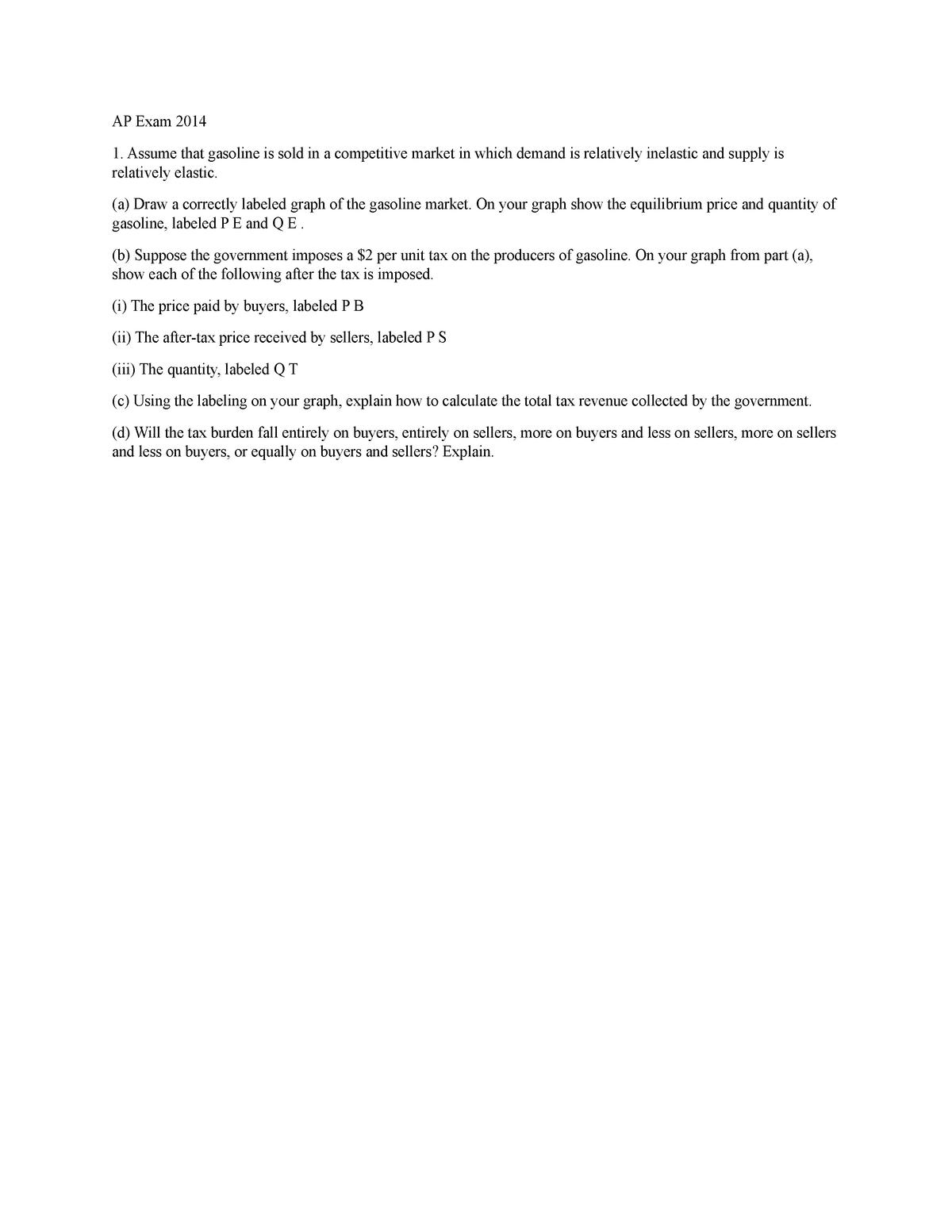Consumer and producer surplus quiz - 302: Econ - StuDocu