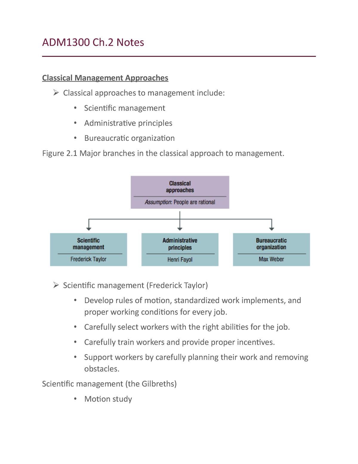 Introduction to Business Management - Lecture notes - Ch 2