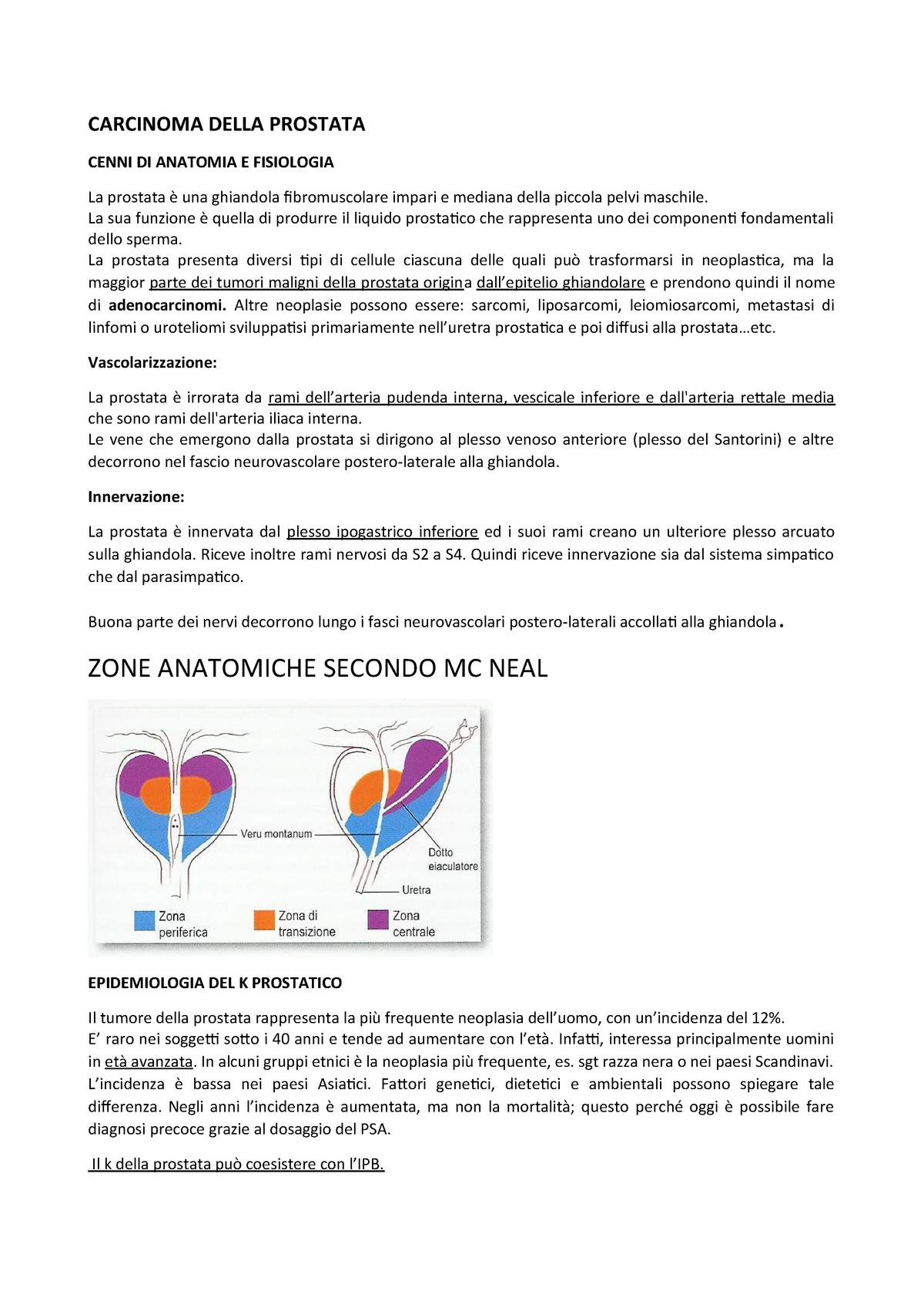 tumore prostata stadiazione tnm 7