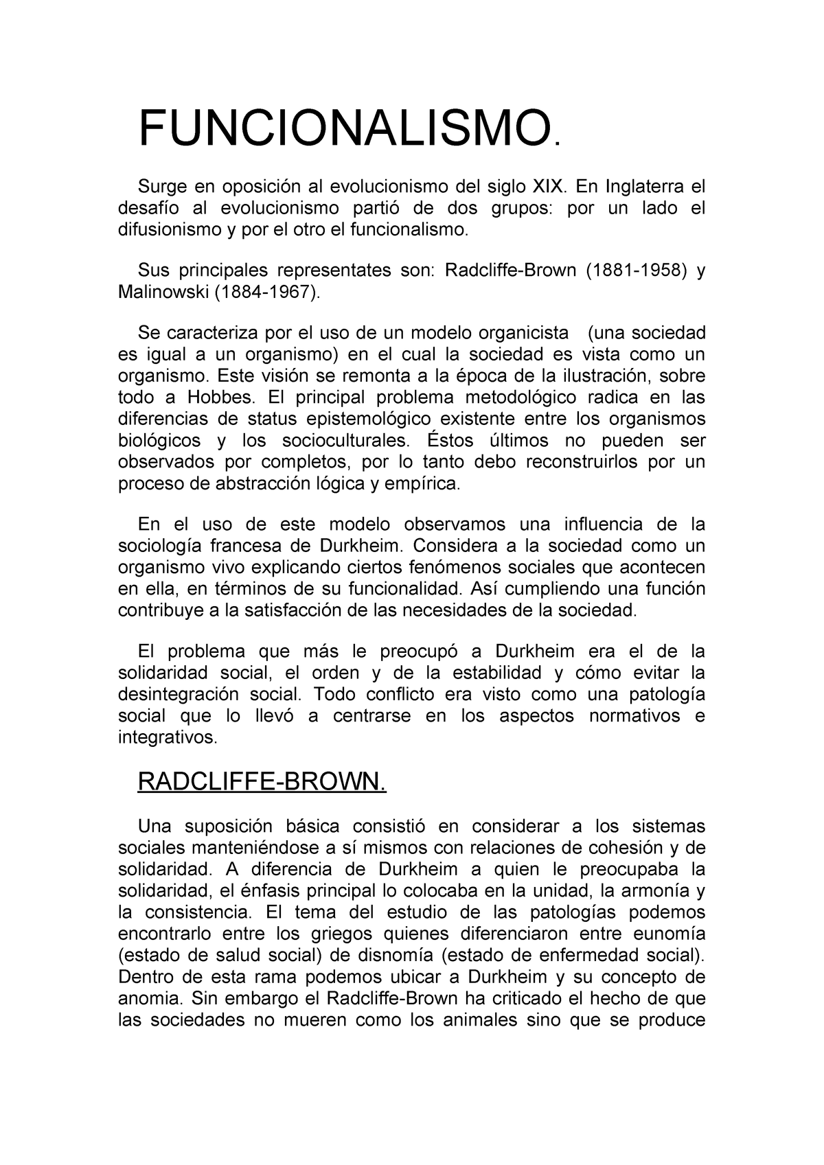 Funcionalismo Antropología Del Parentesco I 70022026 Studocu