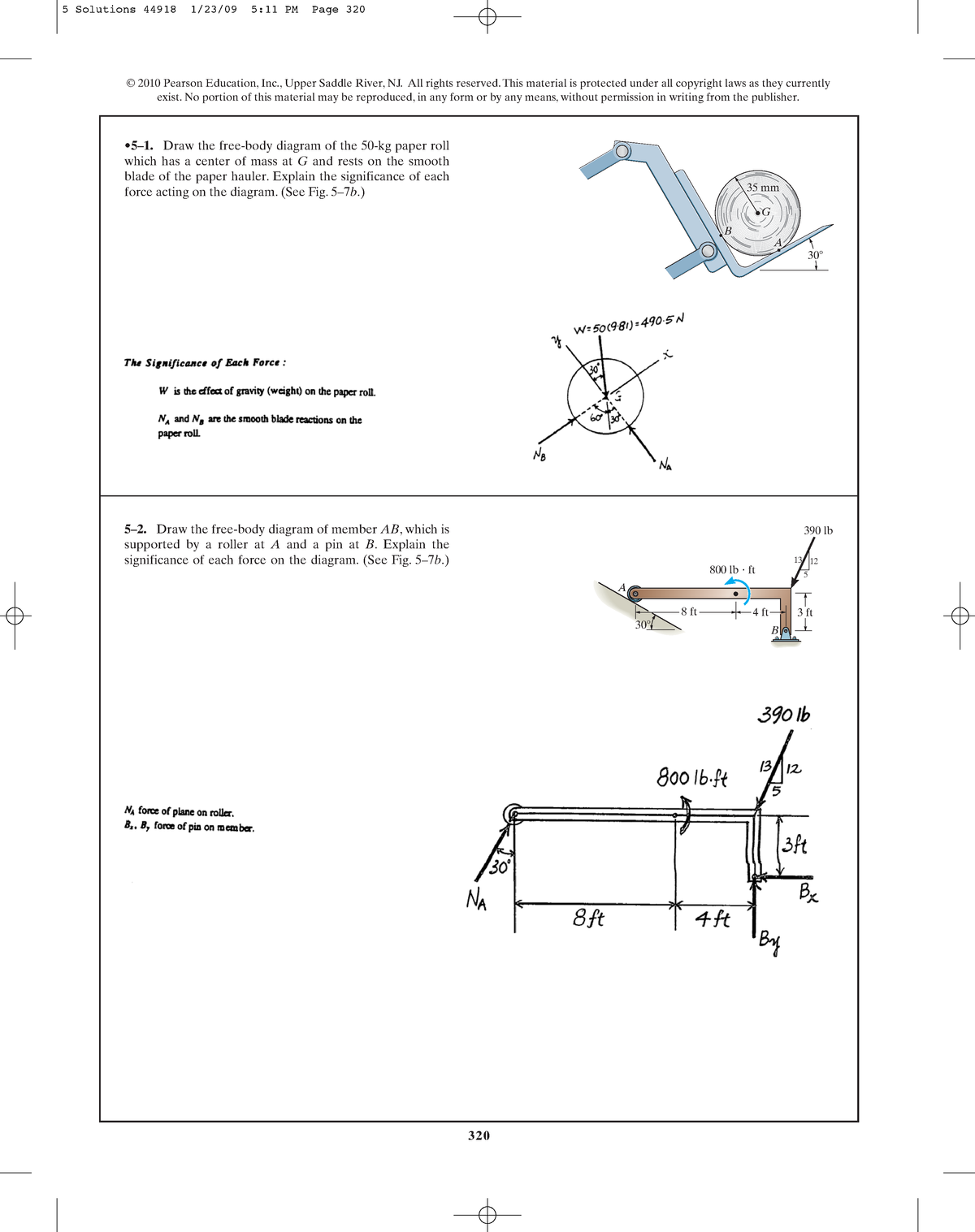 Image For Draw Freebody Diagrams Of The Links For A Five Bar Linkage